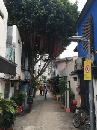Gasse in Little India Singapur