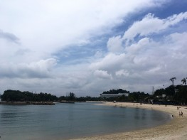 Strand auf Santosa Island