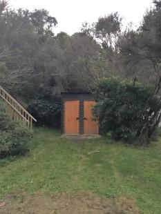 draußen Toilette
