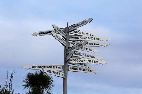 Schild am Cape Foulwind