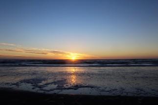 Sonnenuntergang in Lake Mahinapua